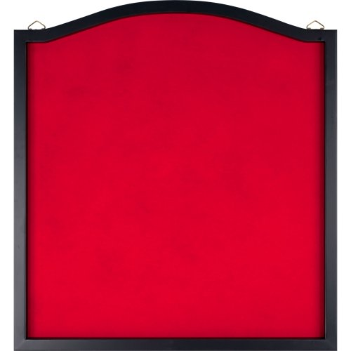 - Trademark Games Dart Backboard - Wood Frame and Felt Wall Protector and Board Surround for Amateur and Intermediate Players (Black and Red)