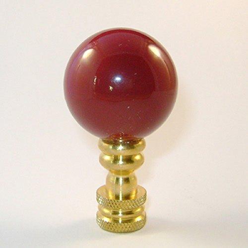 - Cranberry/Burgundy Ceramic Ball Finial - 1 Inch Diameter - 2 Inches High