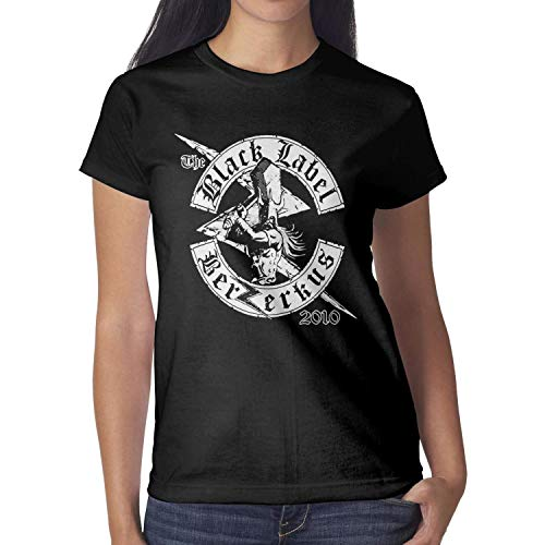 Black-Label-Society-Skull- Women's Cotton Blend Short Sleeve tee Shirt