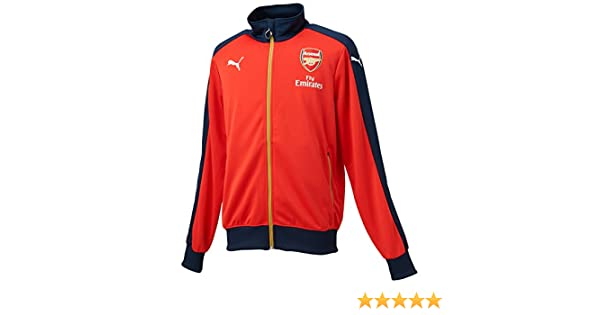 Amazon.com : Puma Arsenal FC 2015/16 Stadium Jacket - Adult - High Risk Red - : Sports & Outdoors