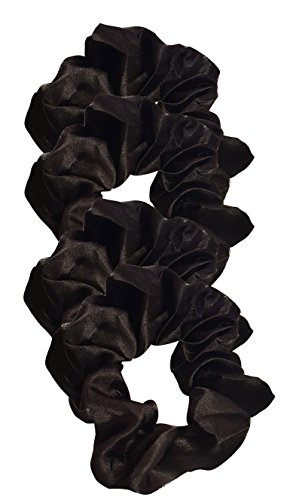 Satin Hair Scrunchies (4 Pack) (black) For $11.99