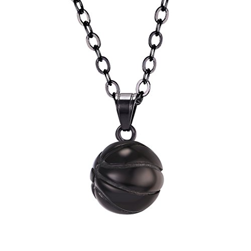 - U7 Mini Basketball Pendant Necklace 22