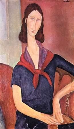 Amazon Com Jeanne Hebuterne Poster Print By Amedeo Modigliani 12 X 18 Posters Prints