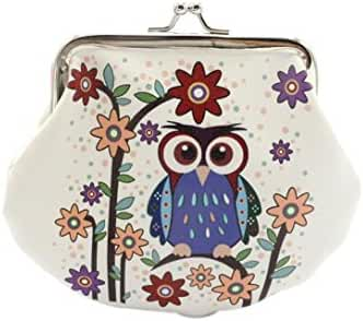 Small Wallet,Hemlock Women Vintage Owl Hand Bag Retro Lady Clutch Purse (C)