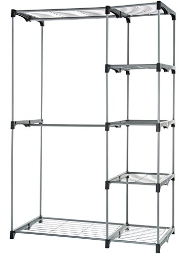 AmazonBasics Double Rod Freestanding Closet - Silver