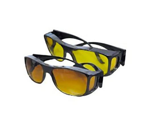 bf4178b88c HD Vision Wraparounds Sunglasses Night Vision Glasses Combo Pack