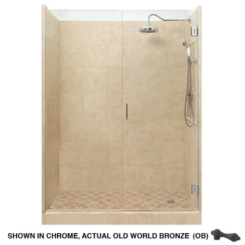 American Bath Factory P21-2522P-OB Grand Shower Package in Medium Stone
