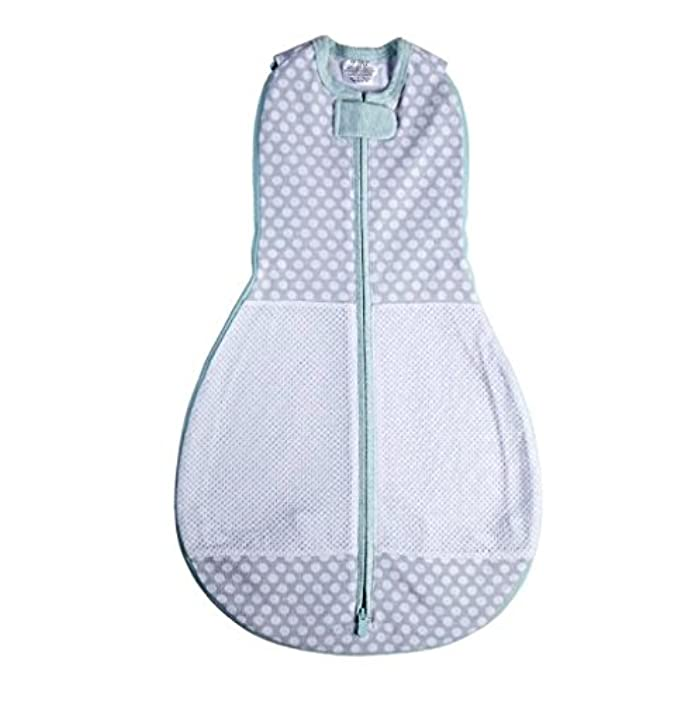 Woombie Grow With Me Baby Swaddle - Convertible Swaddle Fits Babies 0-9 Months - Expands to Wearable Blanket for Babies Up to 18 Months (Polka Party)