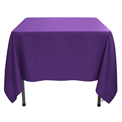 Remedios Tablecloth 70-inch Square Polyester Table Cover - Wedding Restaurant Party Banquet Decoration, Purple