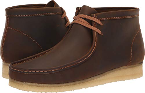 CLARKS Men's Wallabee Boot Fashion, Beeswax, 95 M US
