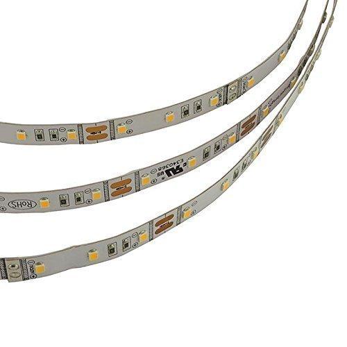 LEDwholesalers 12-Volt High Output UL 16.4-Feet Flexible LED Strip with 300xSMD2835 48-Watt, Warm White 3000K, 20106WW-30K