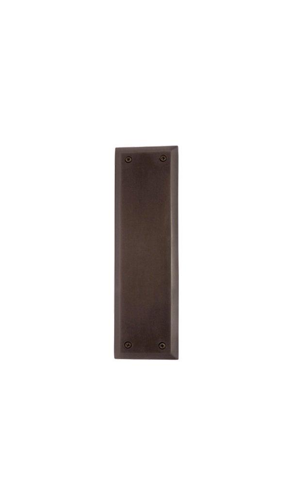 Nostalgic Warehouse New York Push Plate, Oil-Rubbed Bronze