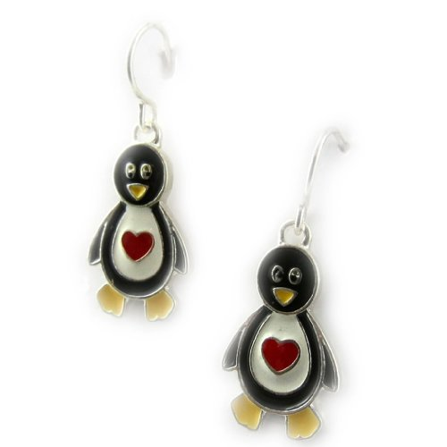 Les Trésors De Lily [K9220] - Boucles Créateur 'Pingouins'