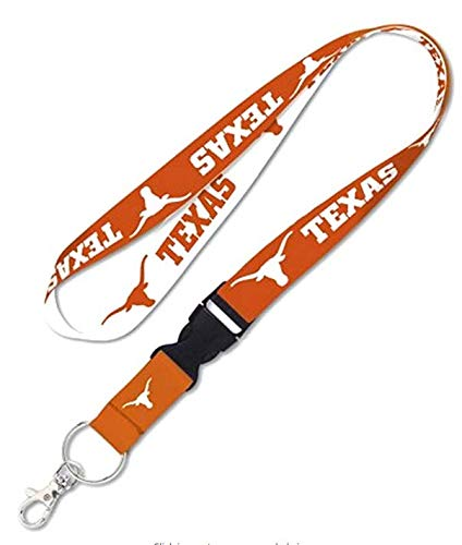 Texas Longhorns College Key Chain Lanyard with Detachable Buckle, ()