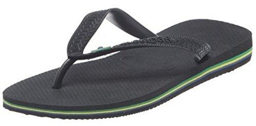 Havaianas Brasil Schwarz Herren Damen UnisexSommer BeachFlip Flops