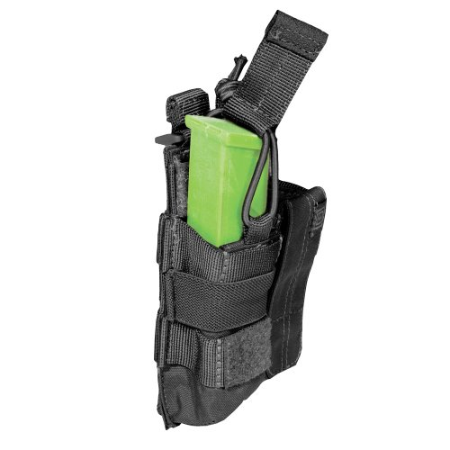 5.11 Pistol Bungee/Cover Double Magazine Pouch, Black