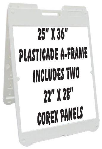 "Neoplex 25"" x 36"" Poly-Plastic Sidewalk Sandwich Board A-..."