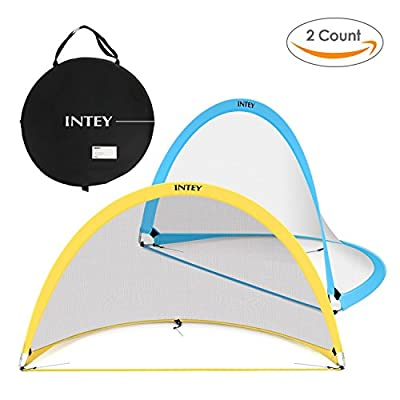 INTEY Soccer Goal Kids Soccer Net 4'/6' Portable Kids Soccer Training Set Of 2(Two Goal & Carry Bag)