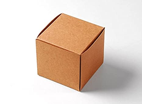 Selfpackaging Caja para Dulces o Bombones en cartulina Kraft Detalles de Boda. Pack de 50 Unidades. Abertura en Flor. - S: Amazon.es: Hogar