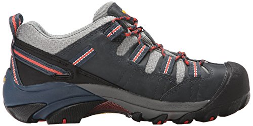 Keen Utility Womens Detroit Low Steel Toe Work Shoe Midnight Navy/Hot Coral