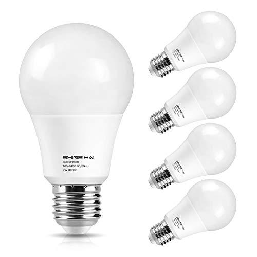 Motion Sensor Light Bulb, 7W  Dusk to Dawn Smart LED Bulbs E