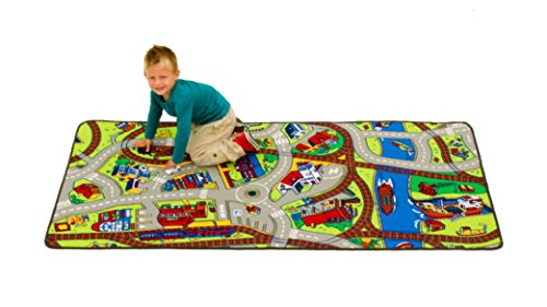Learning Carpets Ride The Train LC 142 (Train Child Play Rug)