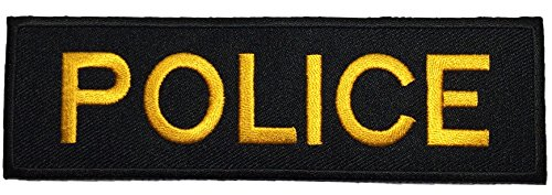 police-officer-cop-costume-diy-sew-on-iron-on-embroidered-applique-patch-black-and-yellow-by-ranger-