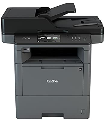 Brother MFC-L6700DW All-In-One Monochrome Laser Printer with Advanced Duplex, Wireless Networking Capacity, 48ppm Black Max Speed, 70-Page ADF Capacity, 520 Sheet Input Tray - Print, Copy, Scan, Fax