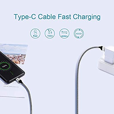 For Samsung Galaxy S10E S10 S10+ S20 Plus A71 5G 10 10e 20 Note 8 9 A10E A70 S10 Lite Charger Cord,USB C Charging Cable for Moto G6 G7 Power Z2 Z3 Z4,Nokia 7.1 6.1/3.1 C,Fast Charge Phone Wire 6FT-6FT