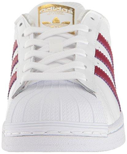 Adidas Originaler Super Grunnlaget J Sneaker Ftwwht, Cburgu, Goldmt