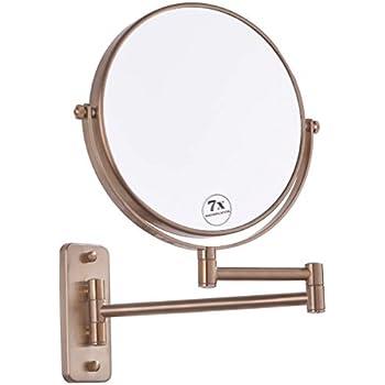 Amazon Com Elegant Bronze Make Up Mirror Strong 7x For