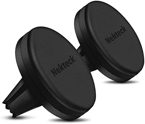 Magnetic Car Mount, Nekteck Magnetic Phone Car Mount Holder for iPhone X/ 8/7/ 6s/ 6 Plus,iPhone 5s/ 5c/ 5, Samsung Galaxy S9/ S8/ S7/ S6, Note 8, LG HTC, Pixel 2 XL and GPS Devices,2 Pack