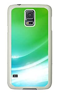 Samsung Galaxy S5 Colorful Green Art 01 PC Custom Samsung Galaxy S5 Case Cover White