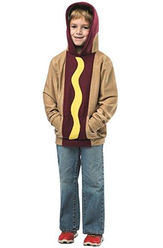 Child Hot Dog Hoodie (Hoodie Hot Dog on a Bun Child Costume)
