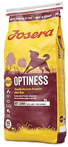 JOSERA Optiness (1 x 15 kg) | Hundefutter mit eiweißreduzierter Rezeptur ohne Mais | Super Premium Trockenfutter für…