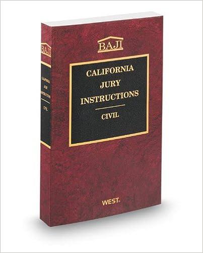 Amazon California Jury Instructions Civil Baji