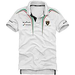Lamborghini Squadra Corse White Polo Shirt (XX-Large)