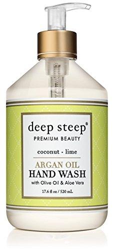 Deep Steep Argan Oil Liquid Hand Wash, Coconut Lime, 17.6 Fluid (Hand Wash Coconut)