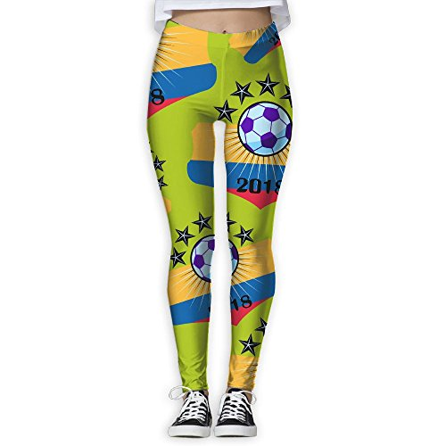 JCOE Yoga Skateboard Sunset Star Printed Women's Skinny Workout Running Yoga Pants Leggings Trousers