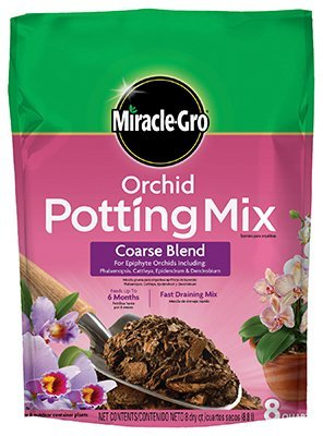 8 Quart Seed Container - Miracle Gro 74778300 8 Qt Orchid Potting Mix - Coarse Blend 0.17-0.05-0.11