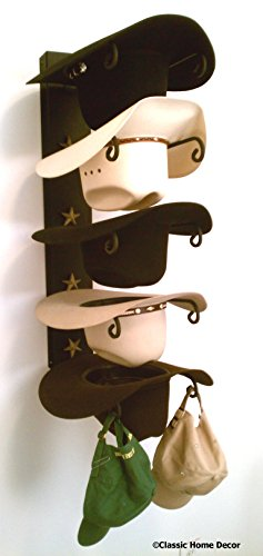 Mark Christopher Collection American Made Cowboy Hat Holder Star Black with Gold Star