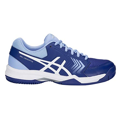 Clay De Chaussures Gel Asics Bleu Pour Flash dedicate Femme Blanc 5 Tennis 8xdRf