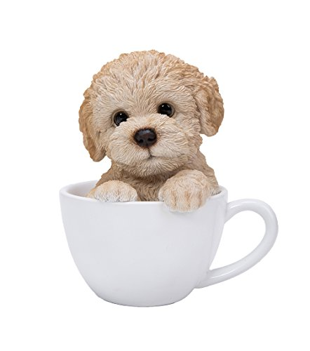 Pacific Giftware Adorable Teacup Pet Pals Puppy Collectible Figurine 5.75 Inches (Poodle)