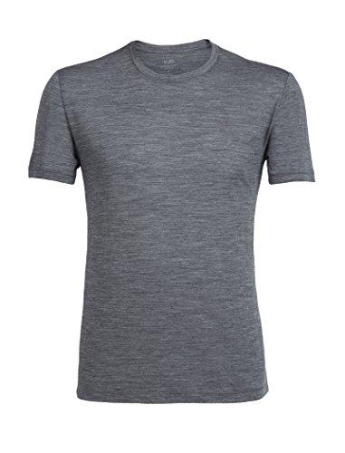 Icebreaker Merino Men's Tech Lite Short Sleeve Crewe T-Shirt, Gritstone Heather/Gritstone Heather, XX-Large