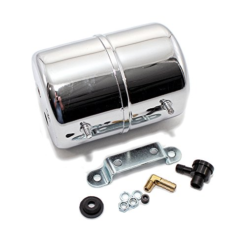 Assault Racing Products A9971 Chrome Vacuum Reservoir Brake Booster Canister with Check Valve and Hardware ()