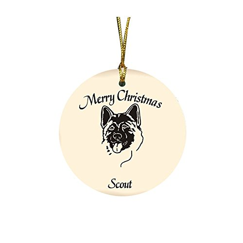 GiftsForYouNow Dog Breed Personalized Christmas Ornament, Akita