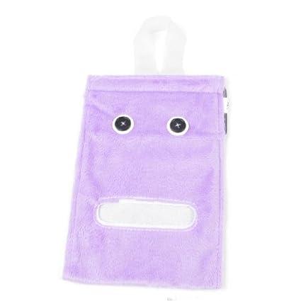 Papel Higiénico la cubierta del rodillo del Tejido de toalla de Felpa púrpura colgantes dispensador