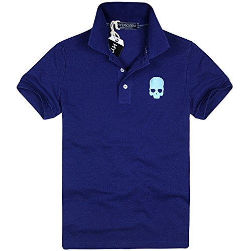 HYDROGEN ポロシャツ メンズ ゴルフ コットン 綿 100% 半袖 夏 プリント 7224 [並行輸入品]
