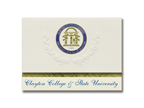 Signature Announcements Clayton State University Graduation Announcements, Platinum style, Basic Pack 20 with Clayton State U. Seal Foil ()
