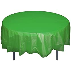Emerald Green Round plastic table cover